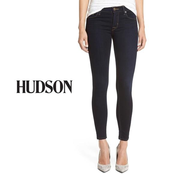 Hudson Jeans Denim - Hudson Krista Super Skinny Jeans Delilah Dark Wash